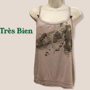 Trés Bien tank- with camo shoes & Paint Splatter